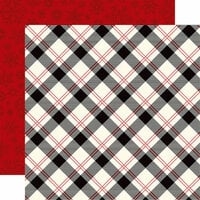 Echo Park - Twas the Night Before Christmas Collection - 12 x 12 Double Sided Paper - Present Plaid