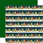 Echo Park - Twas the Night Before Christmas Collection - 12 x 12 Double Sided Paper - Christmas Cottage Border Strips