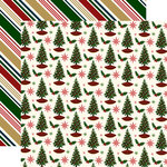 Echo Park - Twas the Night Before Christmas Collection - 12 x 12 Double Sided Paper - Holiday Cheer
