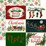 Echo Park - Twas the Night Before Christmas Collection - 12 x 12 Double Sided Paper - Horizontal 4 x 6 Journaling Cards