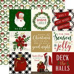 Echo Park - Twas the Night Before Christmas Collection - 12 x 12 Double Sided Paper - 4 x 4 Journaling Cards