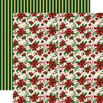 Echo Park - Twas the Night Before Christmas Collection - 12 x 12 Double Sided Paper - Merry Flowers