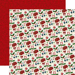 Echo Park - Twas the Night Before Christmas Collection - 12 x 12 Double Sided Paper - Candy Christmas