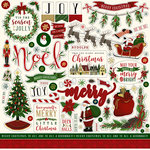 Echo Park - Twas the Night Before Christmas Collection - 12 x 12 Cardstock Stickers - Elements - Volume 1