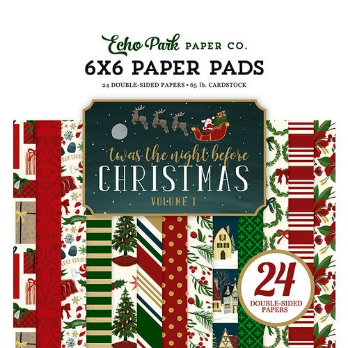 Echo Park - Twas the Night Before Christmas Collection - 6 x 6 Paper Pad - Volume 1