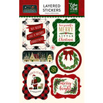 Echo Park - Twas the Night Before Christmas Collection - Layered Cardstock Stickers