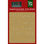 Echo Park - Twas the Night Before Christmas Collection - Embossing Folder - Merry and Bright