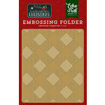 Echo Park - Twas the Night Before Christmas Collection - Embossing Folder - Buffalo Plaid