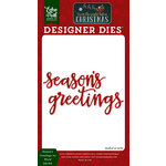 Echo Park - Twas the Night Before Christmas Collection - Designer Dies - Season's Greetings 2 Word