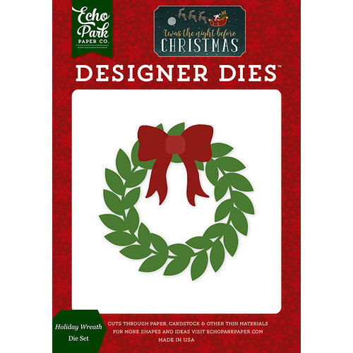 Echo Park - Twas the Night Before Christmas Collection - Designer Dies - Holiday Wreath