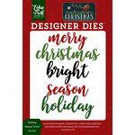 Echo Park - Twas the Night Before Christmas Collection - Designer Dies - Holiday Season Word