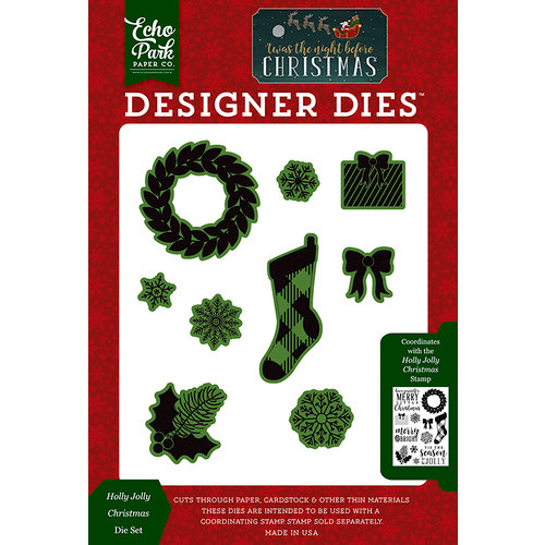 Echo Park - Twas the Night Before Christmas Collection - Designer Dies - Holly Jolly Christmas