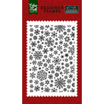 Echo Park - Twas the Night Before Christmas Collection - Clear Acrylic Stamps - Shimmering Snowflakes