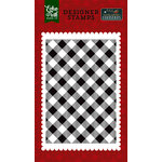 Echo Park - Twas the Night Before Christmas Collection - Clear Acrylic Stamps - Holiday Buffalo Plaid