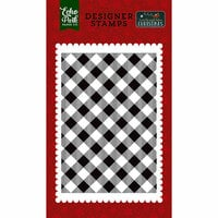 Echo Park - Twas the Night Before Christmas Collection - Clear Photopolymer Stamps - Holiday Buffalo Plaid
