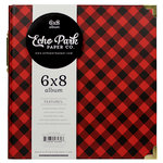 Echo Park - Twas the Night Before Christmas Collection - 6 x 8 Album - Red Buffalo Plaid