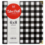 Echo Park - Twas the Night Before Christmas Collection - 6 x 8 Album - Black and White Check
