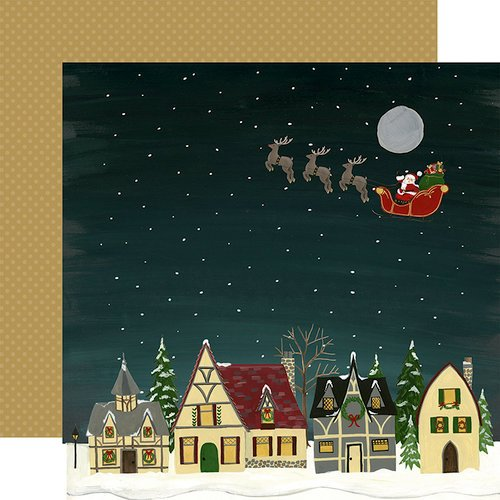 Echo Park - Twas the Night Before Christmas Collection - 12 x 12 Double Sided Paper - Merry Christmas to All