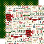 Echo Park - Twas the Night Before Christmas Collection - 12 x 12 Double Sided Paper - Tis the Season Words