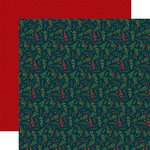 Echo Park - Twas the Night Before Christmas Collection - 12 x 12 Double Sided Paper - Merry Berries