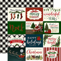Echo Park - Twas the Night Before Christmas Collection - 12 x 12 Double Sided Paper - Horizontal 3 x 4 Journaling Cards