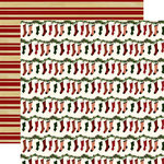 Echo Park - Twas the Night Before Christmas Collection - 12 x 12 Double Sided Paper - Jolly Stockings