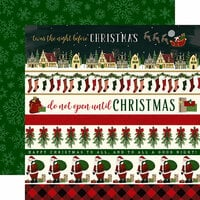 Echo Park - Twas the Night Before Christmas Collection - 12 x 12 Double Sided Paper - Border Strips