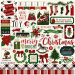 Echo Park - Twas the Night Before Christmas Collection - 12 x 12 Cardstock Stickers - Elements - Volume 2