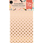 Echo Park - Metropolitan Girl Collection - Travelers Notebook - Insert - Pocket Folder with Foil Accents
