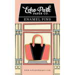 Echo Park - Metropolitan Girl Collection - Travelers Notebook - Enamel Pin - Handbag