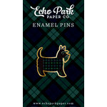 Echo Park - Black Watch Plaid Collection - Travelers Notebook - Enamel Pin - Scottie Dog