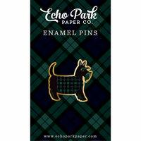 Echo Park - Black Watch Plaid Collection - Travelers Notebook - Enamel Pin - Scottie Dog