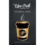 Echo Park - Coffee and Friends Collection - Travelers Notebook - Enamel Pin - Coffee Cup