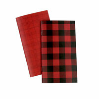 Echo Park - Red Buffalo Plaid Collection - Travelers Notebook - Insert - Blank