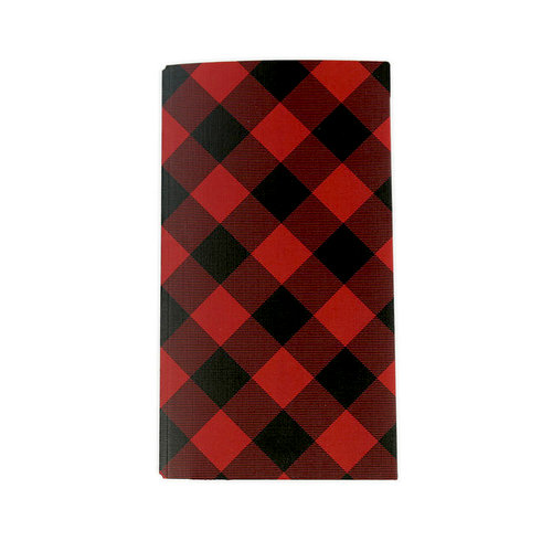 Echo Park - Red Buffalo Plaid Collection - Travelers Notebook - Insert - Pocket Folder