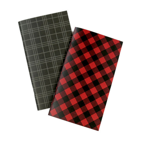 Echo Park - Red Buffalo Plaid Collection - Travelers Notebook - Insert - Weekly Calendar