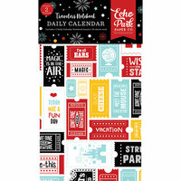 Echo Park - Wish Upon a Star Collection - Travelers Notebook - Insert - Daily Calendar