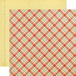 Echo Park - Teacher's Pet Collection - 12 x 12 Double Sided Paper - School Days Plaid