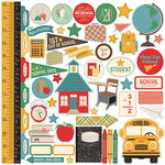 Echo Park - Teacher's Pet Collection - 12 x 12 Cardstock Stickers - Elements