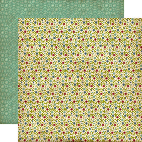 Echo Park - Times and Seasons Collection - 12 x 12 Double Sided Paper - Swanky Floral