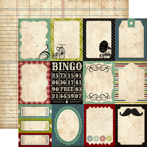 Echo Park - Times and Seasons Collection - 12 x 12 Double Sided Paper - Journaling Cards