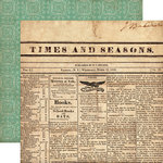 Echo Park - Times and Seasons Collection - 12 x 12 Double Sided Paper - Yesterday's News