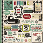 Echo Park - Times and Seasons Collection - 12 x 12 Cardstock Stickers - Elements
