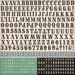 Echo Park - Times and Seasons Collection - 12 x 12 Cardstock Stickers - Alphabet
