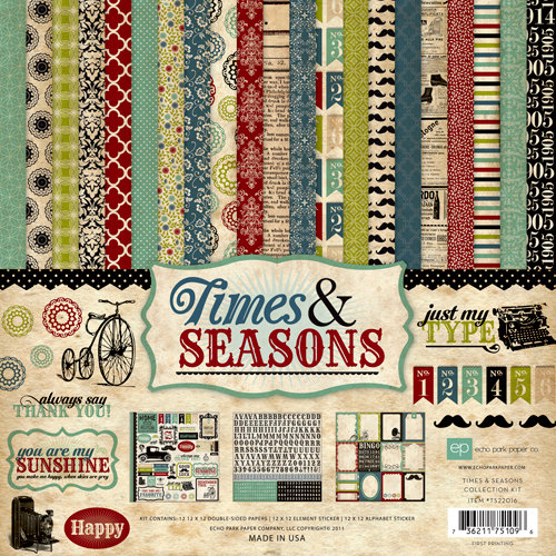 Echo Park - Times and Seasons Collection - 12 x 12 Collection Kit