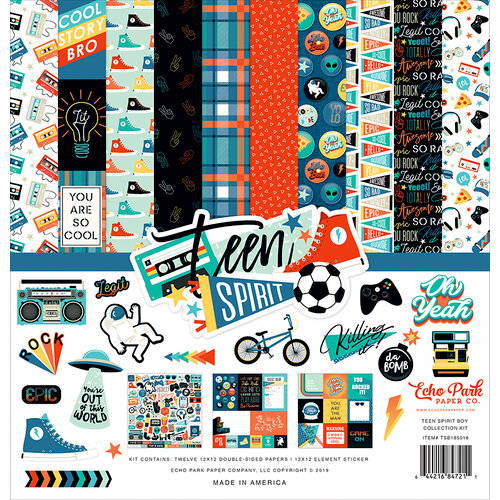 Echo Park - Teen Spirit Boy Collection - 12 x 12 Collection Kit