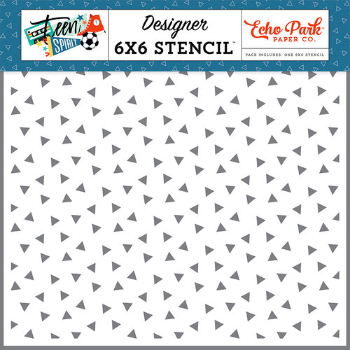 Echo Park - Teen Spirit Boy Collection - 6 x 6 Stencil - Epic Triangles