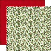 Echo Park - The Story of Our Christmas Collection - 12 x 12 Double Sided Paper - Holly