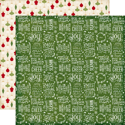 Echo Park - The Story of Christmas Collection - 12 x 12 Double Sided Paper - Words