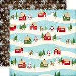 Echo Park - The Story of Christmas Collection - 12 x 12 Double Sided Paper - Village